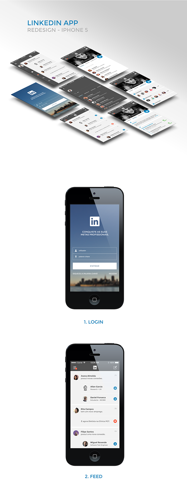 Redesign Linkedin App on Behance Linkedin app, App, Linkedin