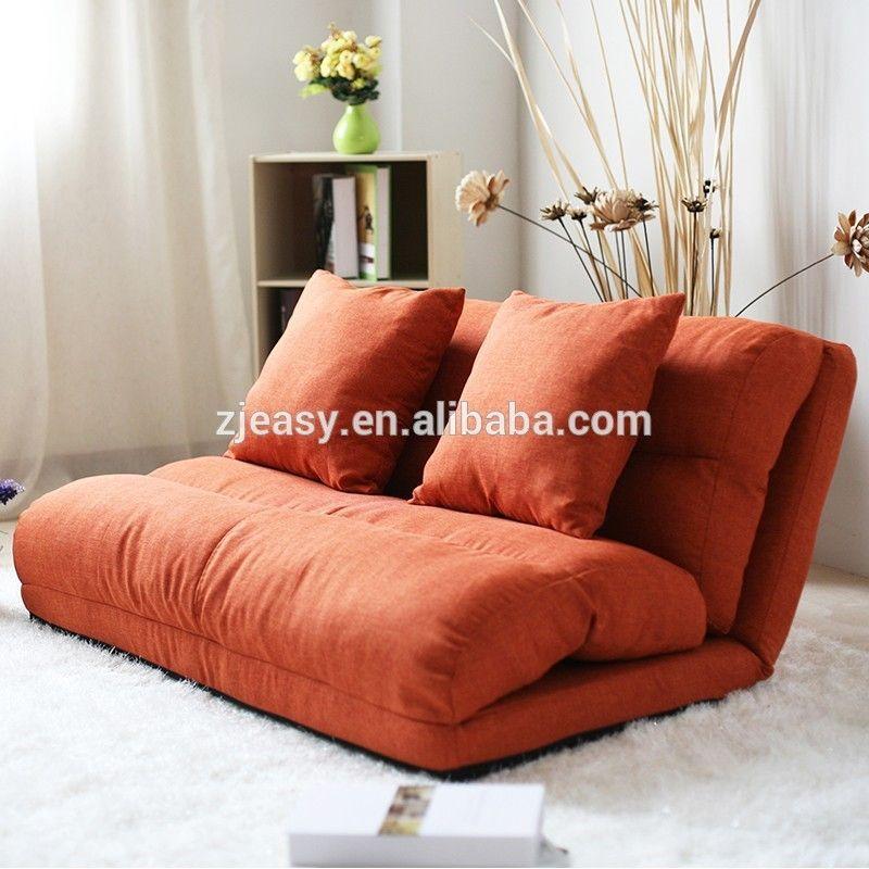 Korean style fabric folded sponge floor sofa with 5 for Buy floor sofa