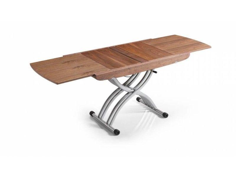 Table relevable lift noyer extensible en table repas 8 - Table basse relevable extensible conforama ...