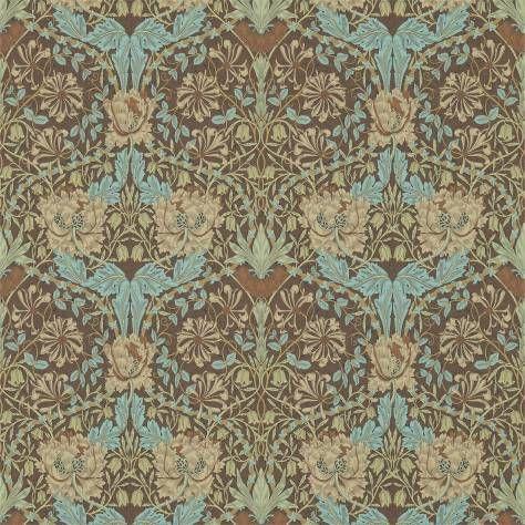 William Morris & Co Archive 3 Wallpapers Honeysuckle & Tulip Wallpaper - Taupe/Aqua - 214702