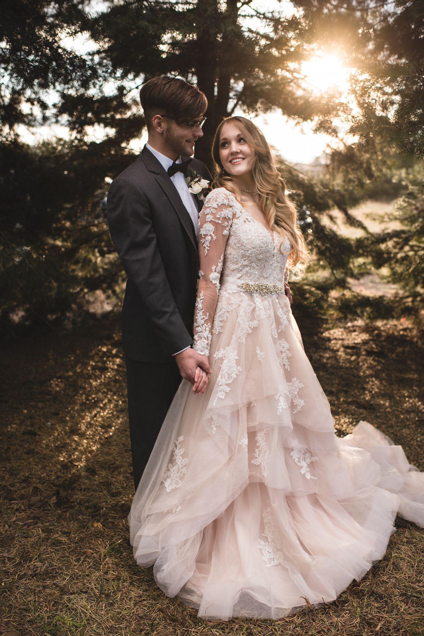 Styled Wedding Winterberry Tree Farm Long Sleeve Wedding Dress Lace Wedding Dress Champagne Wedding Dresses Lace [ 2050 x 1368 Pixel ]