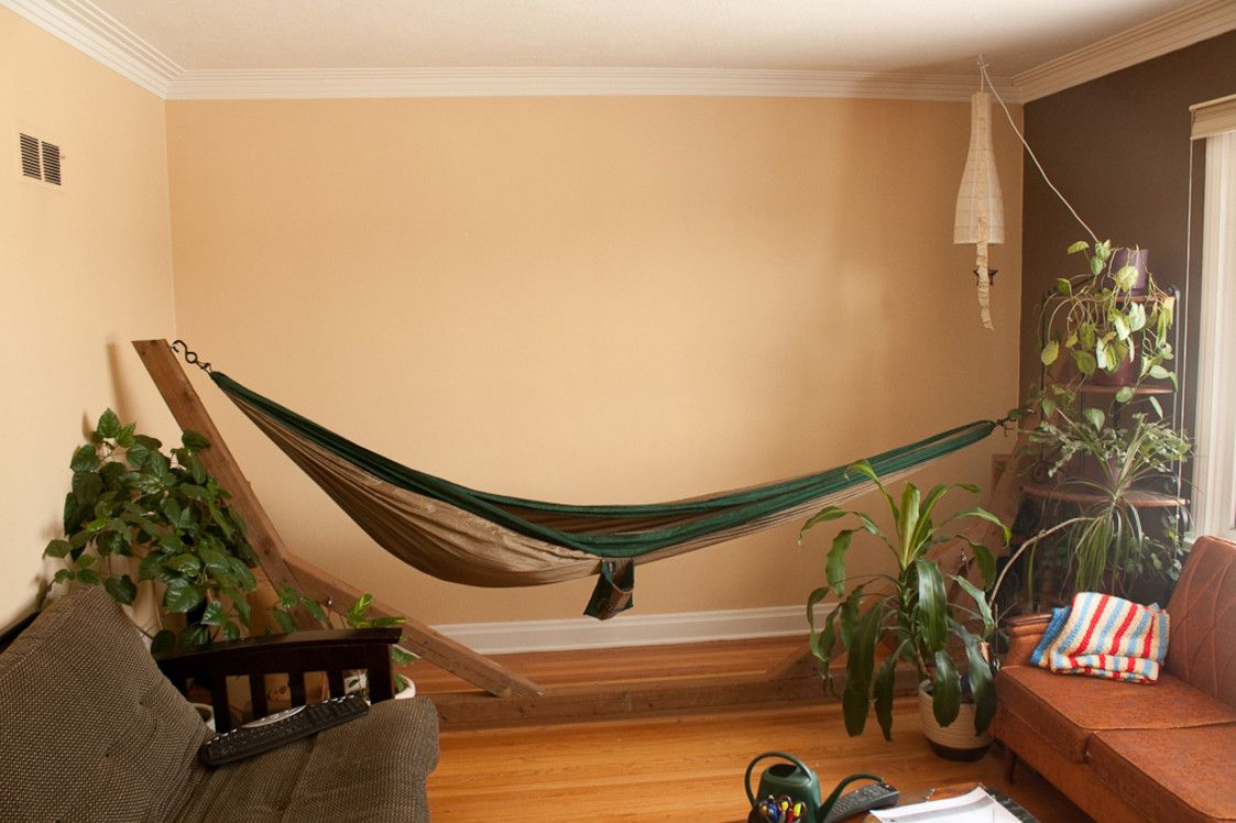 Portable indoor hammock stand for the home pinterest