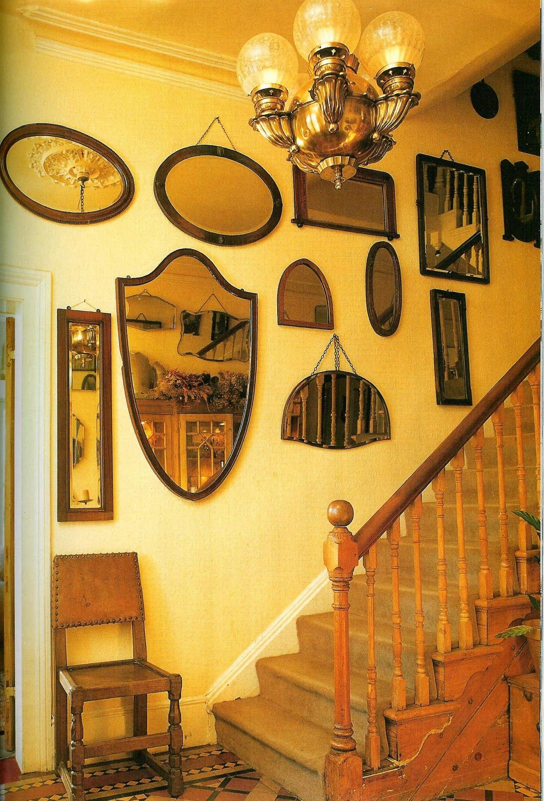 thefantasydecorator.com. Mirror display wall. Stairway wall of ...