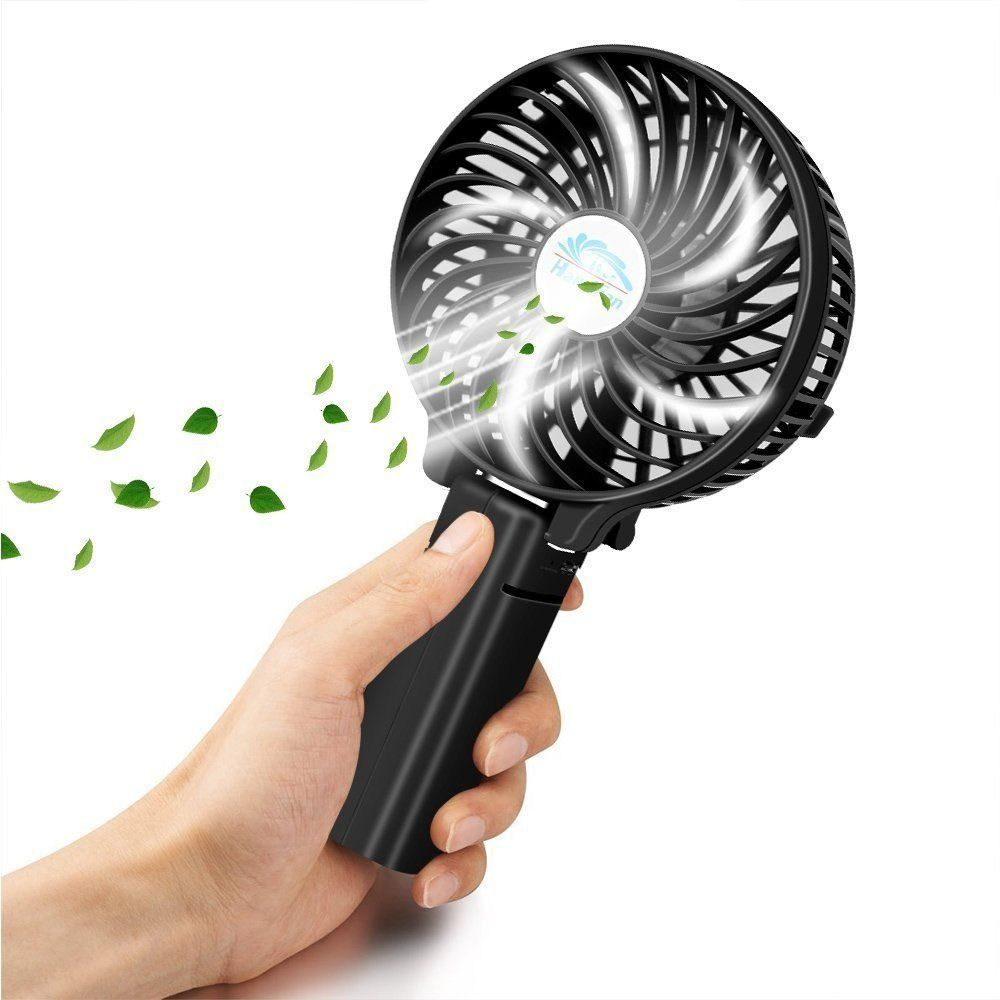 Sunpollo Rechargeable Battery Operated Usb Fan Folding Design Kipas Mini Fortable Personal Handheld Portable With Foldable Clip Adjustable 3