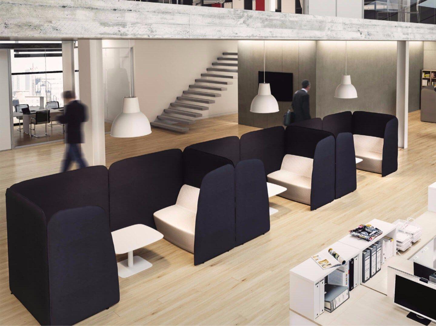 5TH ELEMENT Isola ufficio by Las Mobili | - Materials - acoustic ...