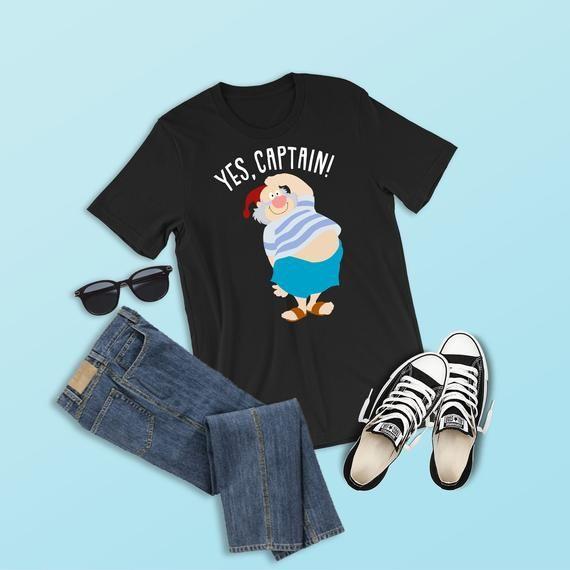 fab08276dce94 Mr. Smee Shirt, Yes Captain, Captain Hook Crew Shirt, Peter Pan ...