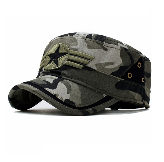 ba607a21799cb Star and Three Stripe Embroided Military Cap in 2018