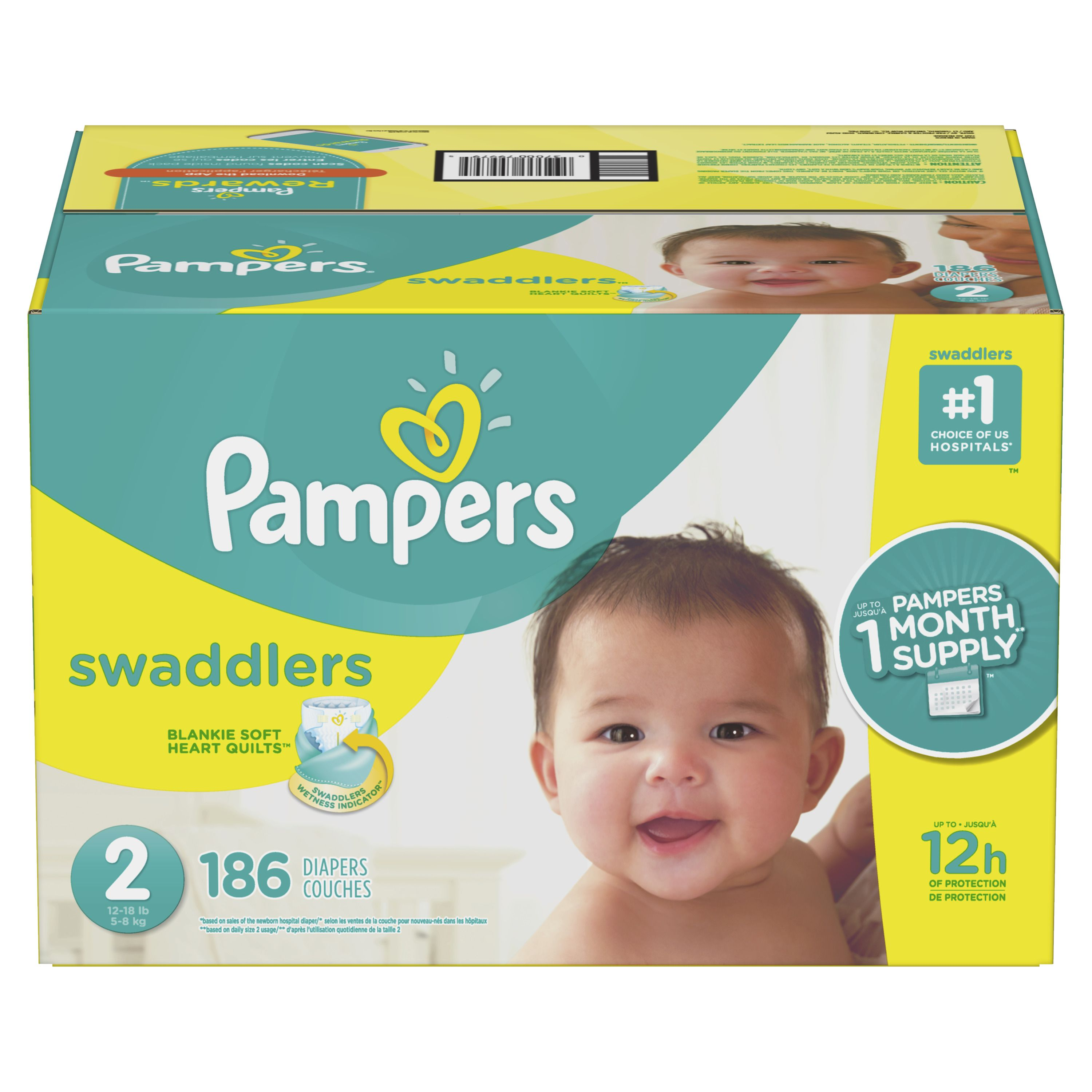 Pampers Swaddlers Diapers Soft And Absorbent Size 2 148 Ct Walmart Com Pampers Swaddlers Swaddlers Pampers Swaddlers Diapers