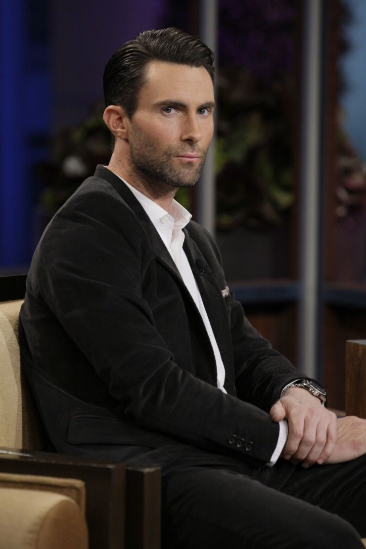 """A pensive Adam Levine gets serious during an appearance on """"The Tonight Show With Jay Leno"""" on Oct. 28 in Burbank, Calif."""