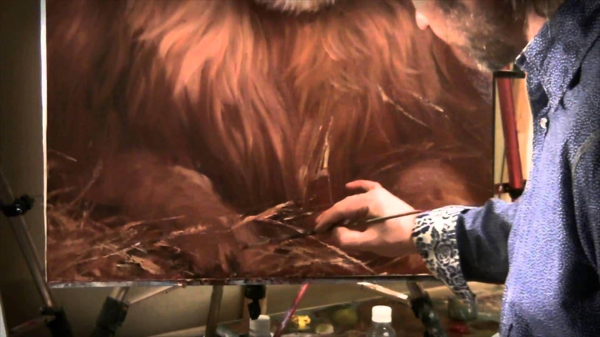 Igor sajarov para pintar retrato de un le n pelaje for Pinturas para pintar
