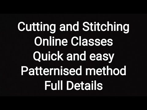 #CuttingAndStitching #OnlineClasses #PatternMethod #QuickAndEasy #ForBeginners - YouTube
