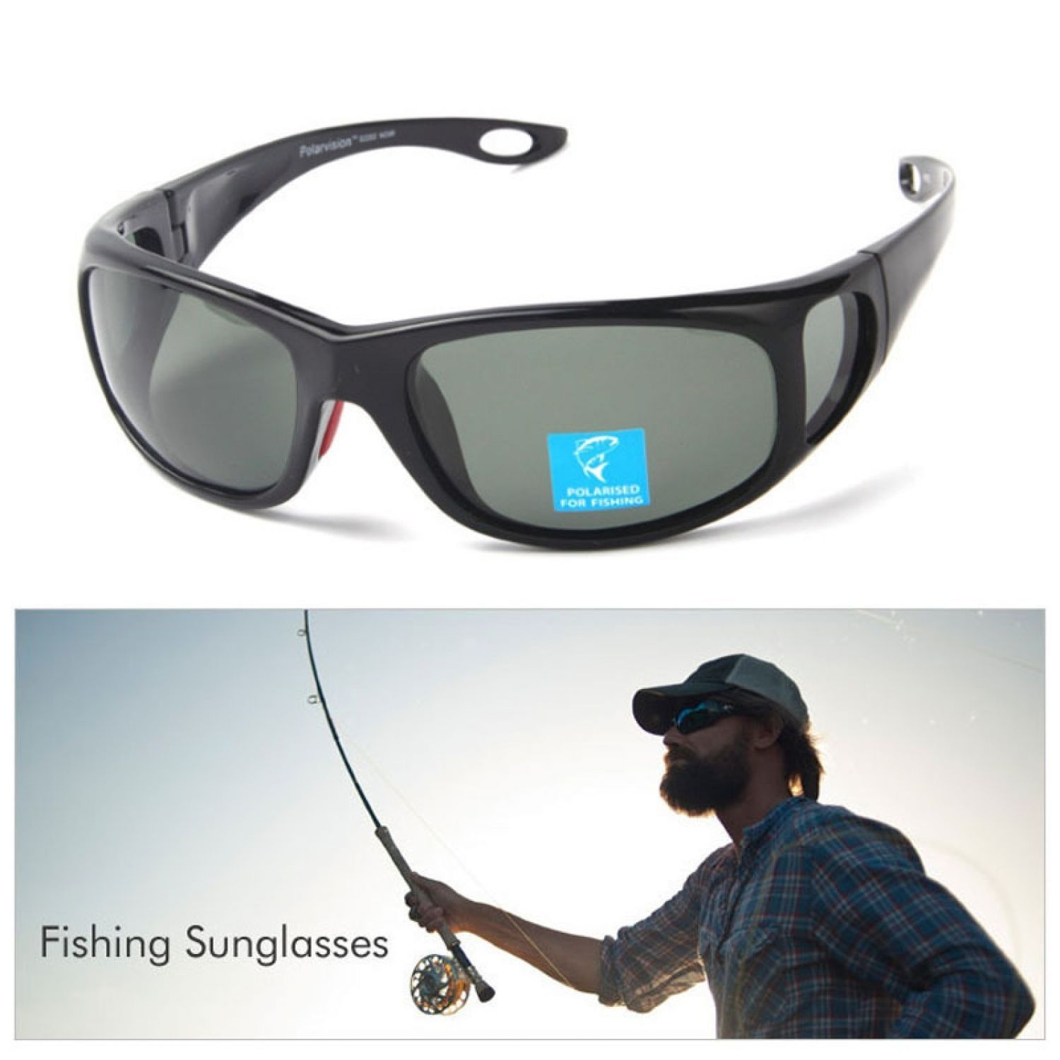 9b98d98e6db9 Men Sun Glasses Polarized Lens Brand Designer Polaroid Fish Glasses Plus  Case. Find ...