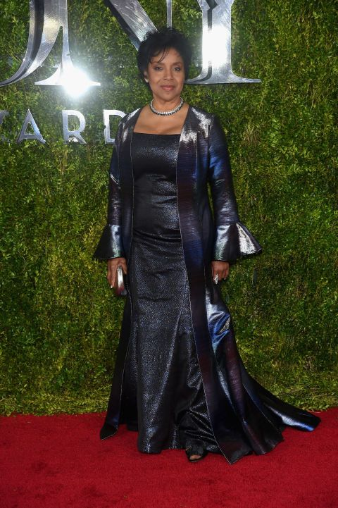 Phylicia Rashad in b michael AMERICA. See what everyone wore to the 2015 Tony Awards.
