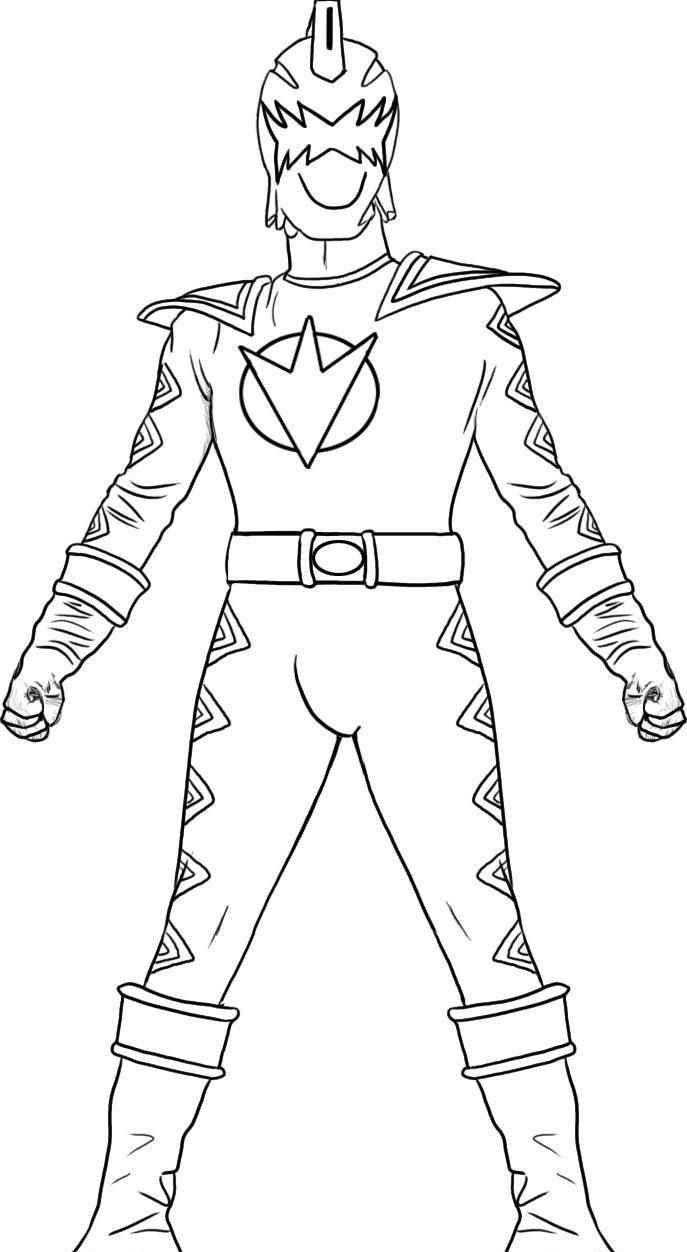 Free online coloring pages of power rangers - Power Rangers Dino Thunder Coloring Pages