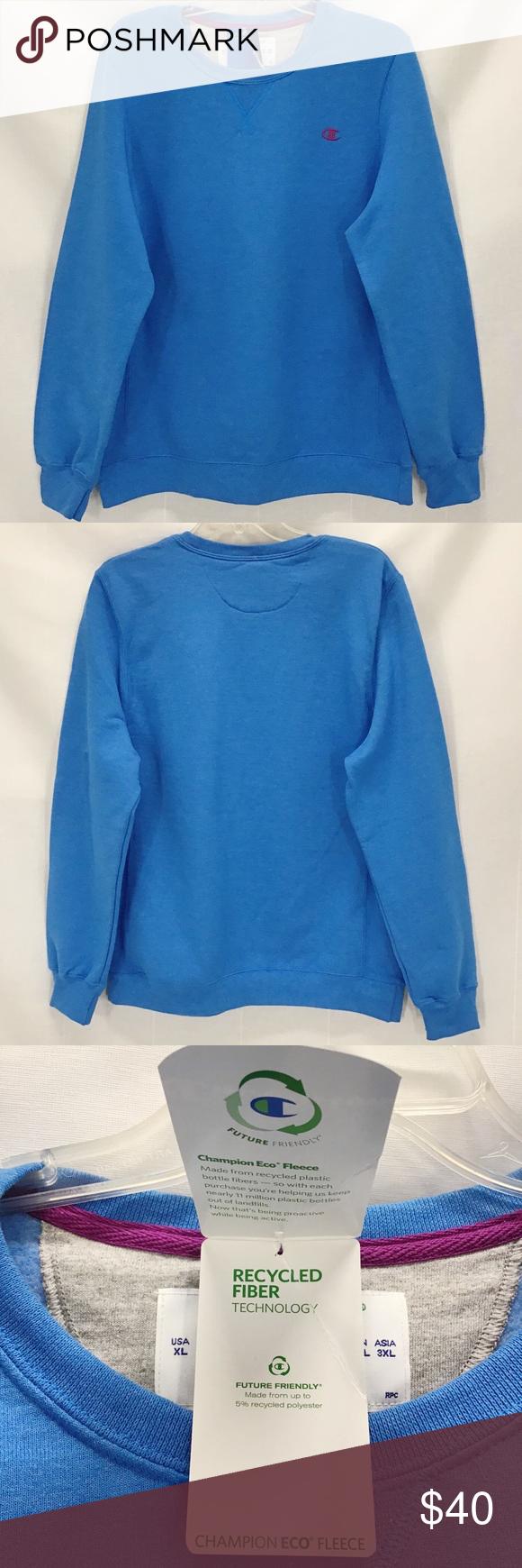 Champion Eco Xl Blue Pullover Crew Sweatshirt Nwt Champion Eco Pullover Crew Sweatshirt Color Balboa Blue Size Pullover Champion Sweatshirt Crew Sweatshirts [ 1740 x 580 Pixel ]