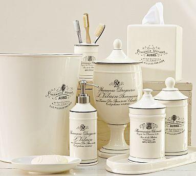 White Apothecary Bath Accessories