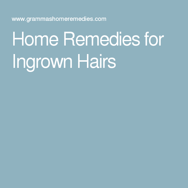 Home Remedies For Ingrown Hairs #IngrownHairBikini