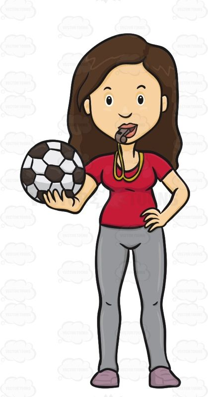 Woman Holding A Soccer Ball With A Whistle In Her Mouth Soccer Ball Soccer Soccer Coaching