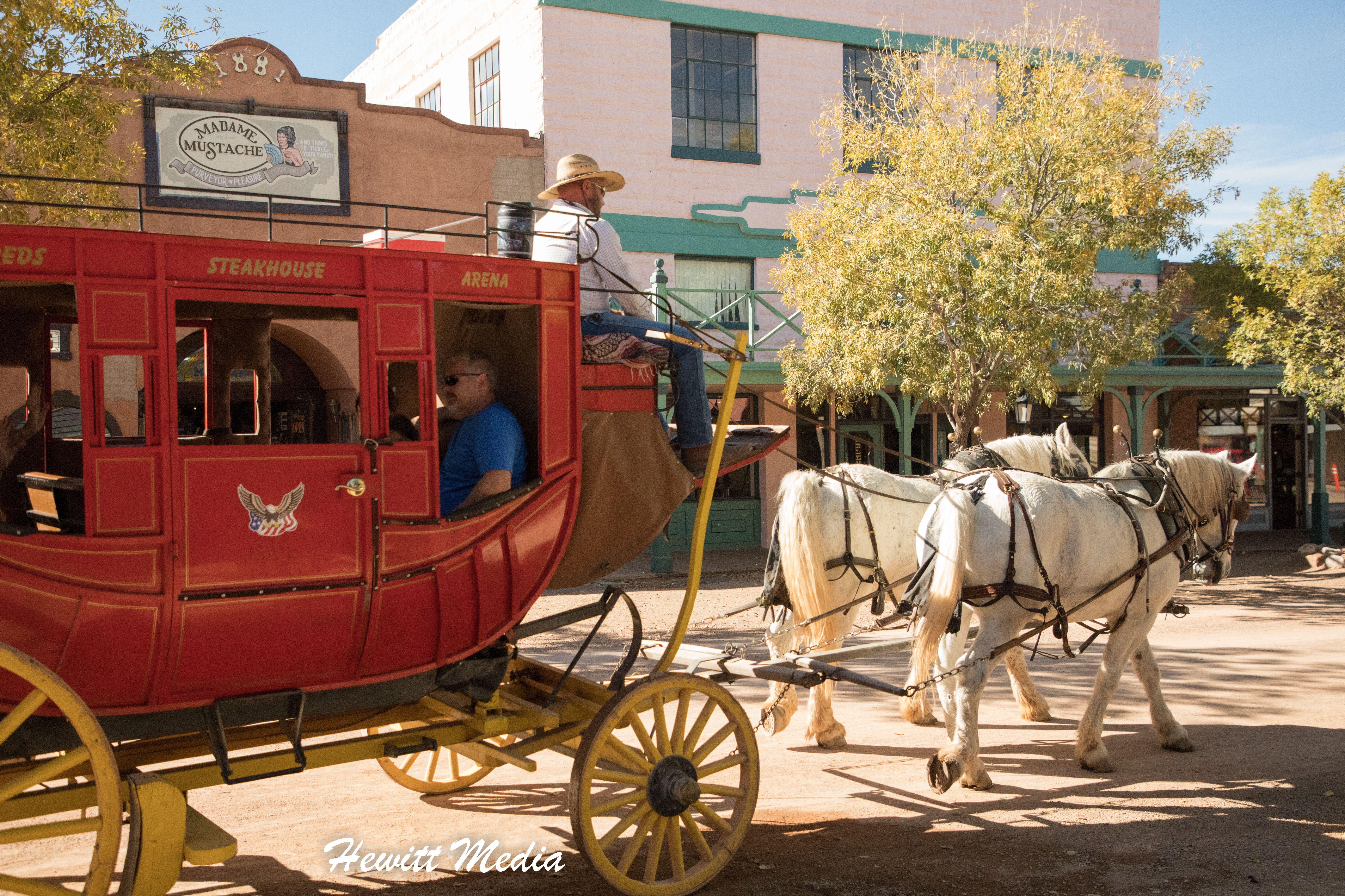 Tombstone A Carriage Ride In The Old West Town Of Tombstone Arizona The Town Was Made Famous By The Likes Of Wyatt Earp A Old West Town Old West West Town