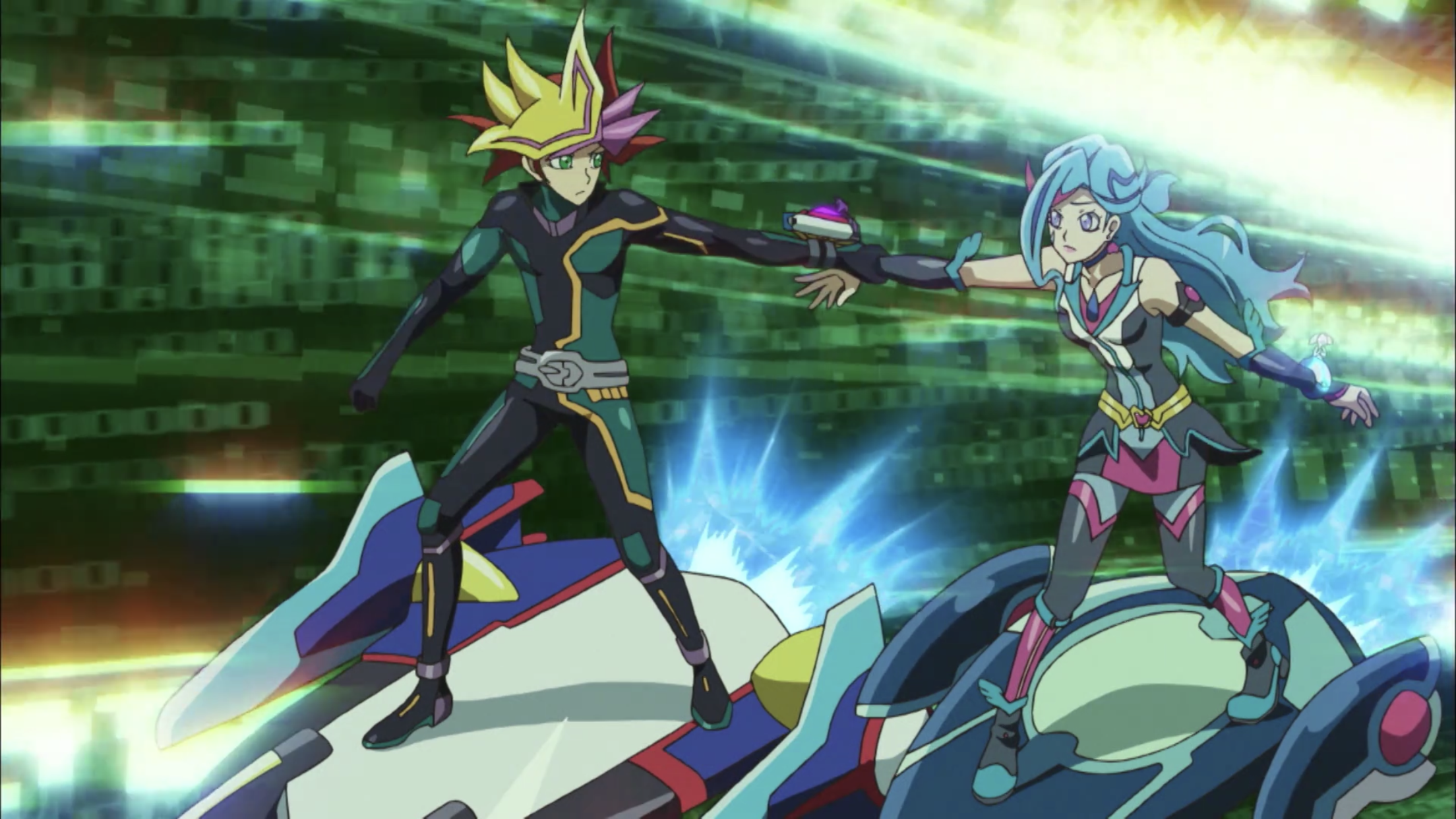 yugioh vrains  playmaker and blue maiden  anime
