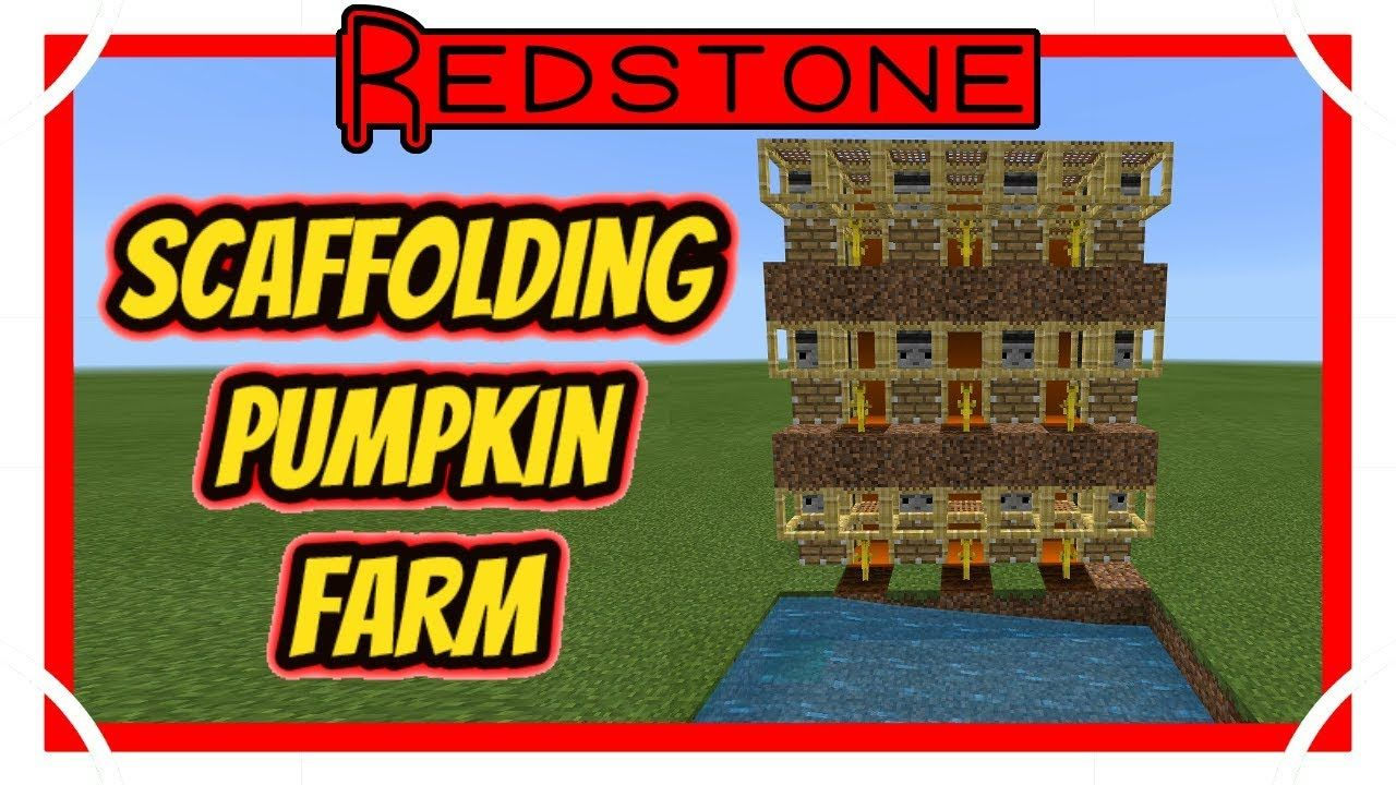 Scaffolding Pumpkin/Melon Farm [Minecraft Bedrock Edition