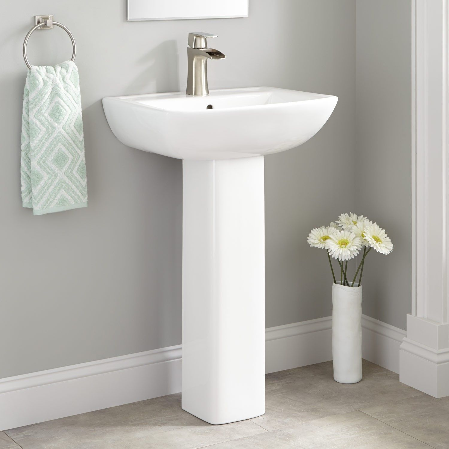 Kerr Porcelain Pedestal Sink  Pedestal Sink Sinks And Porcelain Endearing Bathroom Sinks Small Review