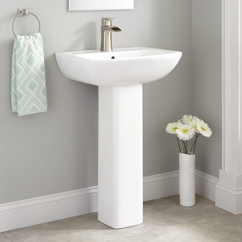 Kerr Porcelain Pedestal Sink  Pedestal Sink Sinks And Porcelain Endearing Bathroom Sinks Small Review
