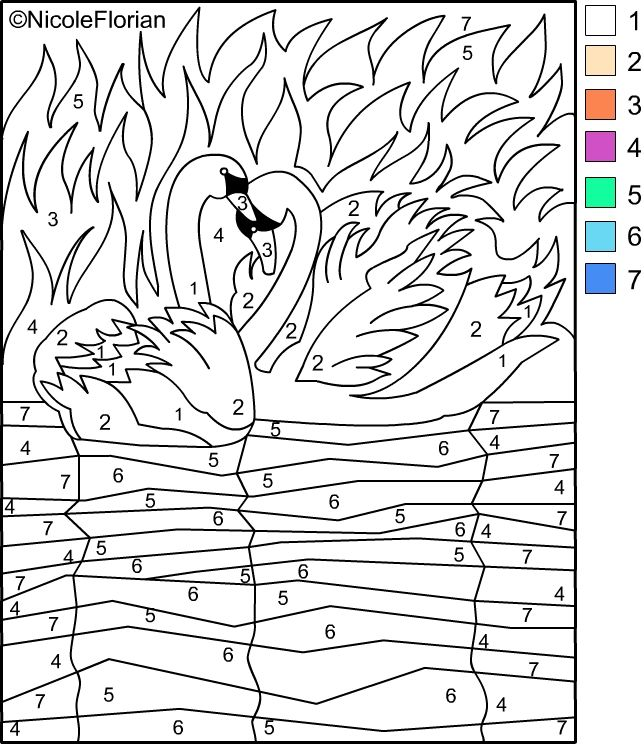 Free Coloring Pages: COLOR BY NUMBER * Coloring pages | Color- by ...