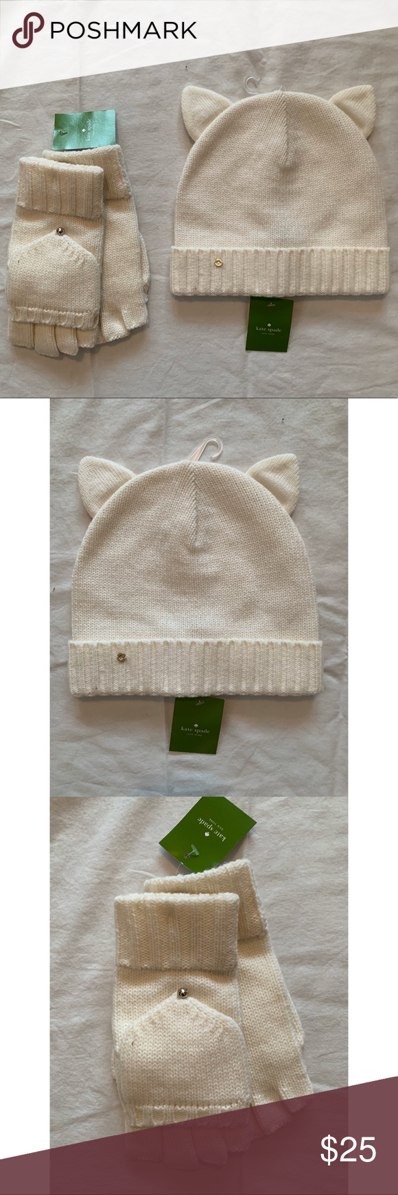 Kate Spade Knitted Hat And Gloves Knitted Hats Knitted Kate Spade