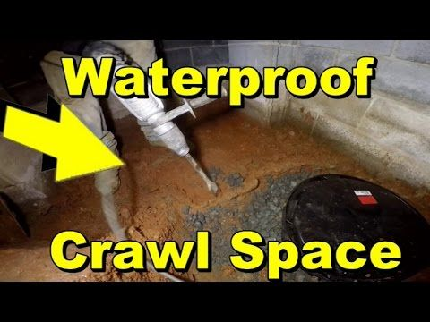 Do It Yourself Sump Pump Install Crawl Space Interior Waterproofing Youtube Crawlspace Sump Pump Space Interiors