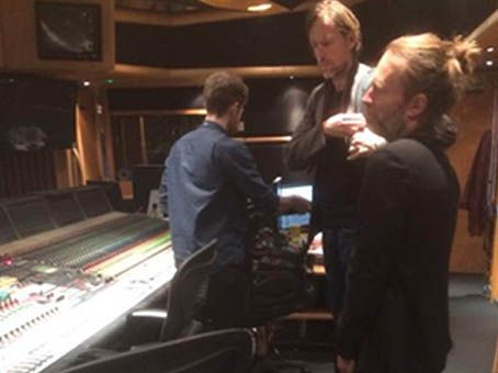 Canal Electro Rock News: Divulgadas fotos da gravação do novo álbum do RadioHead