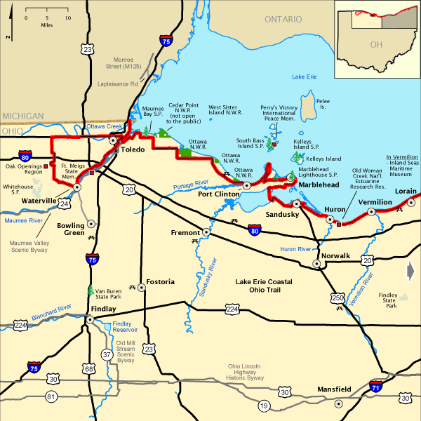 ohio Lake Erie Coastal Ohio Trail Western Section Americas