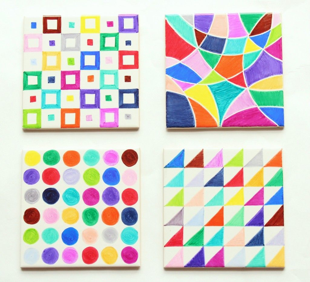 Small tiles for crafts - Sharpie Tiles This Is A Great Idea For Mother S Day Kids Can