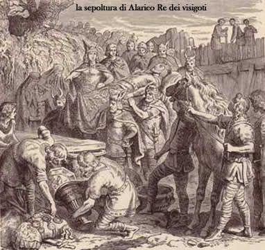Sepoltura di Alarico, Re dei visigoti.