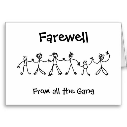 Farewell gift ideas, This will be the farewell gift is the last - farewell card template