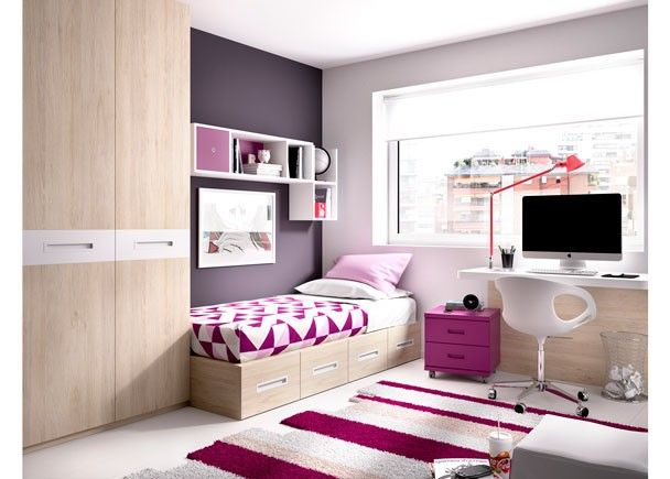 Juvenil con elementos modulares armario mobiliario for Muebles modulares juveniles
