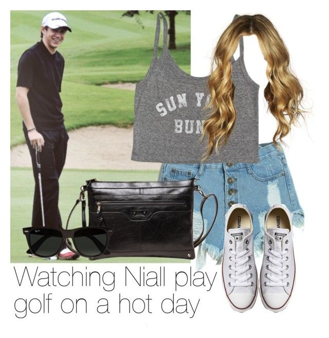 """""""Watching Niall play golf on a hot day"""" by style-with-one-direction ❤ liked on Polyvore featuring Billabong, Ray-Ban, Converse, OneDirection, 1d, NiallHoran and lucluc"""