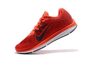 0aa9c352aa06 Mens Sneakers Nike Air Zoom Winflo 5 Bright Crimson Gym Red Team Red Oil  Grey AA7406 600