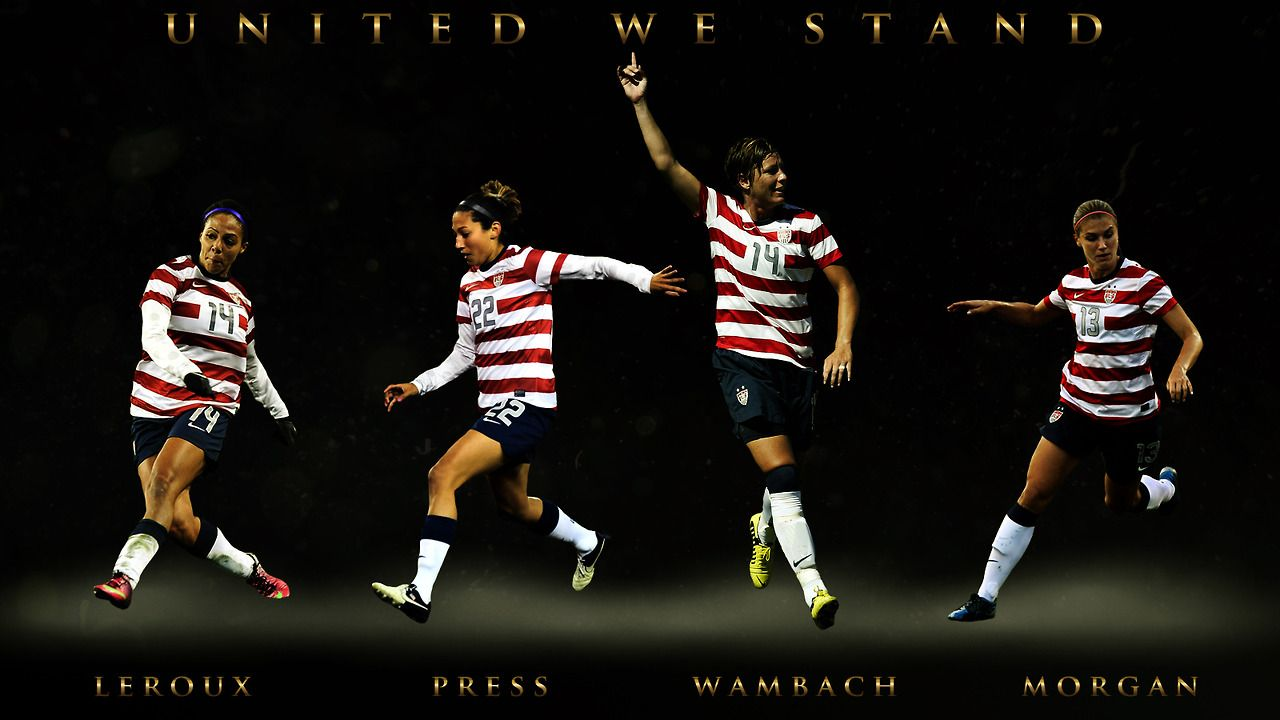Uswnt Forwards Leroux Press Wambach Morgan Uswnt Football Wallpaper Soccer Inspiration