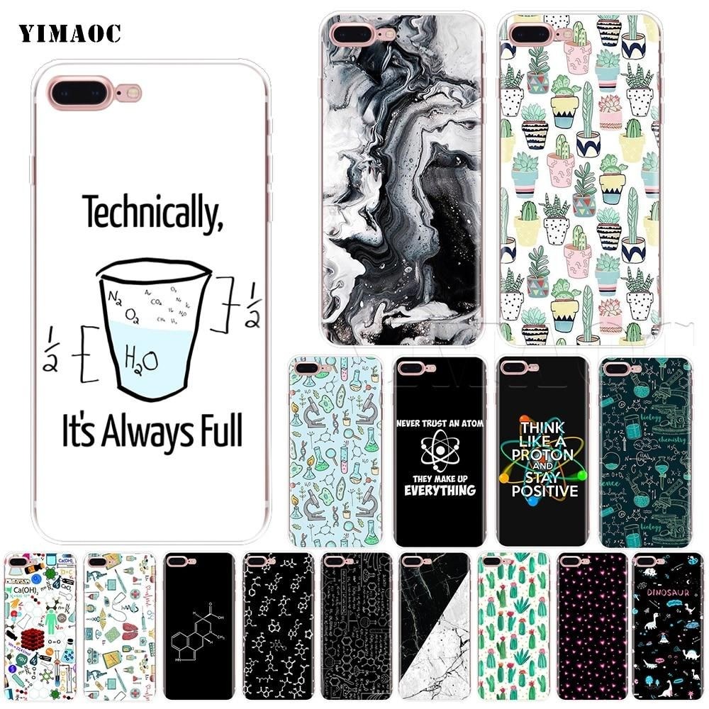 YIMAOC Biology and Chemistry Soft Silicone Case for iPhone XS Max XR