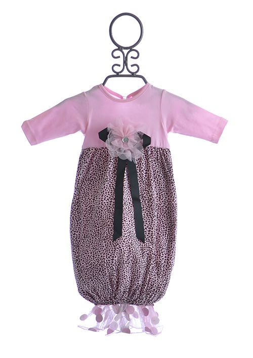 Cach Cach Pink Leopard Print Baby Gown 48 00 Leopard