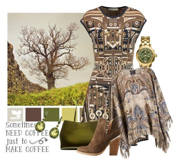 """""""Design Seeds 12."""" by leptismagna ❤ liked on Polyvore featuring Tory Burch, Mary Katrantzou, Etro, Banana Republic, Charlotte Russe, Annoushka, olive, designseeds, katranzou and fallwinter2015"""