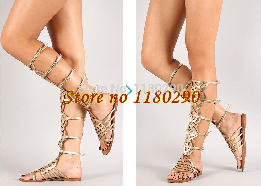 Summer Hot Selling Women Fashion Buckle Design Laser Cut-out Flat Gladiator Boots Sandal Boots - http://bohemi.co/?products=summer-hot-selling-women-fashion-buckle-design-laser-cut-out-flat-gladiator-boots-sandal-boots #boho #bohemian #bohoclothes