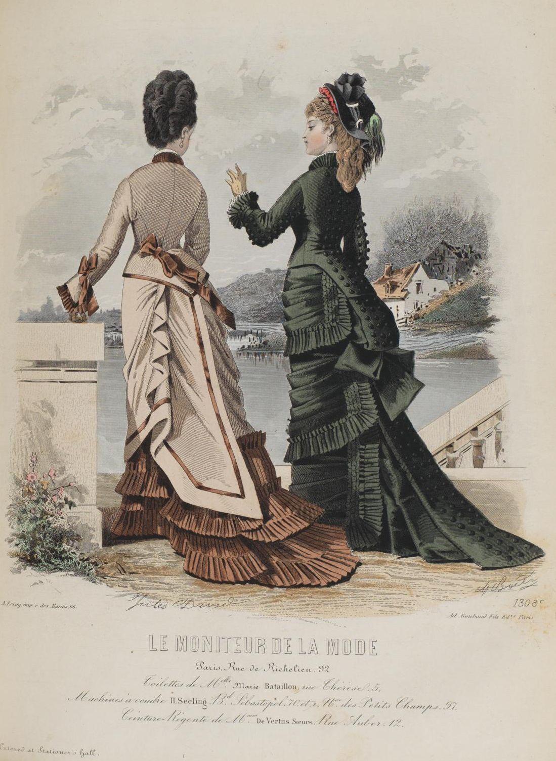 Le Moniteur de la Mode 1876 #englishdresses1880