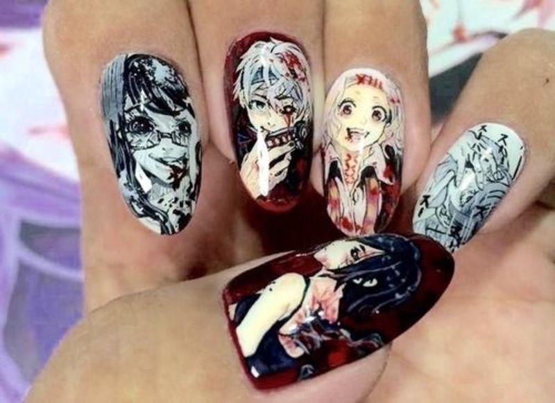Pin By Valeriapadillagil On Hgvsdjg In 2020 Anime Nails Kawaii Nail Art Nail Art Designs