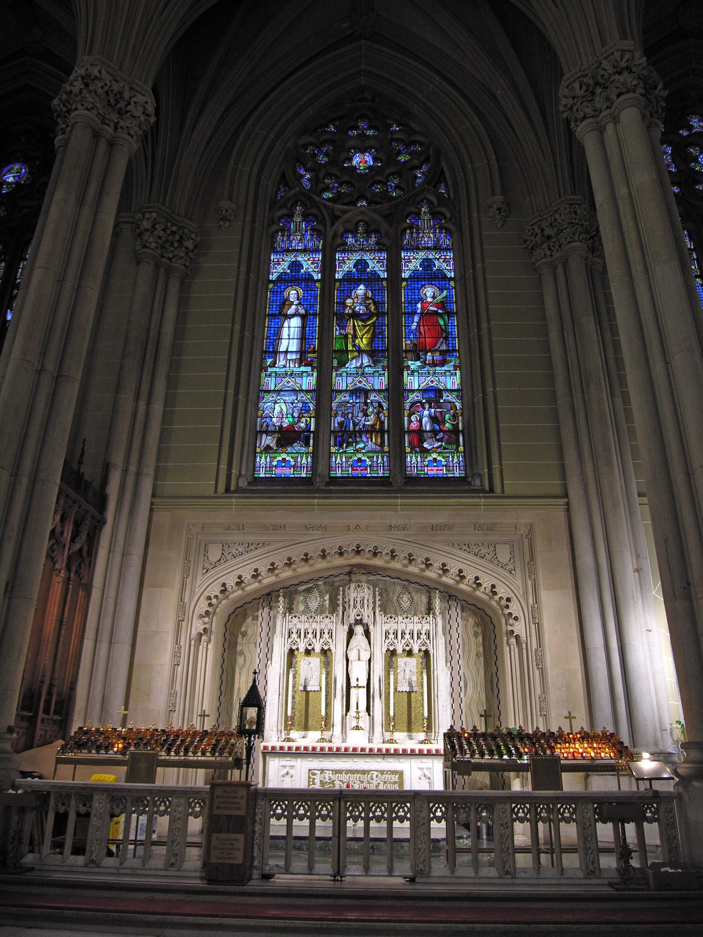 St. Patrick's Cathedral - New York City, New York - Altar & Chapel of St. Theresa the Little ...