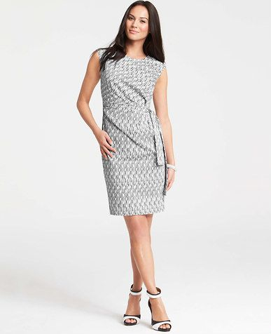 Lattice Print Ann Taylor Sleeveless Miracle Dress