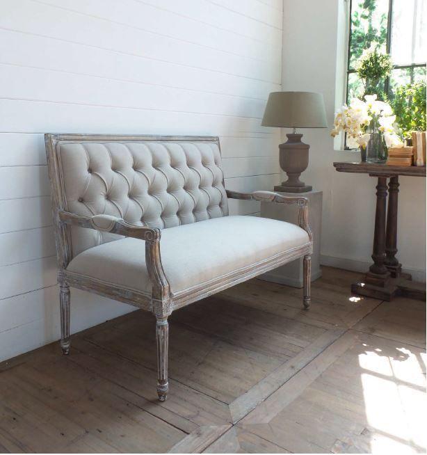 Divanetto divano 2 posti design shabby chic provenzale for Divano legno shabby