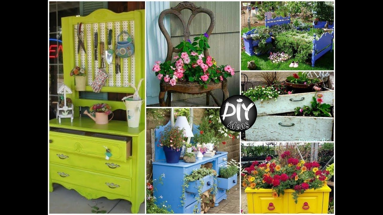 Creative Ways To Reuse Old Furniture In Your Garden Diy Garden
