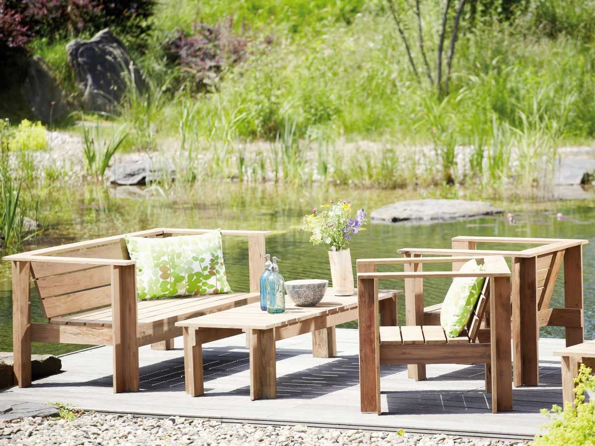 Jan Kurtz Teak Garten Set Batten Kaufen Im Borono Online Shop Designers Guild Hintergarten Bodenkissen